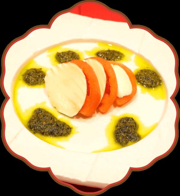 モッツァレラとトマトのジェノベーゼ|佐貫・龍ケ崎居酒屋