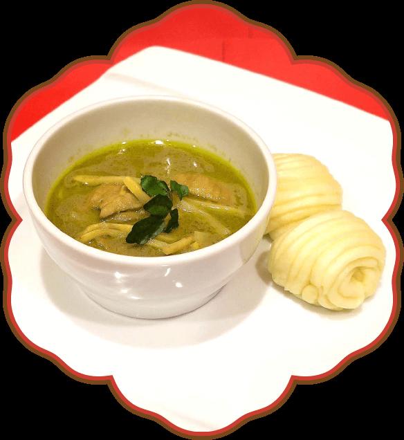 タイ式グリーンカレーと叶多寿の蒸しパン|佐貫・龍ケ崎居酒屋
