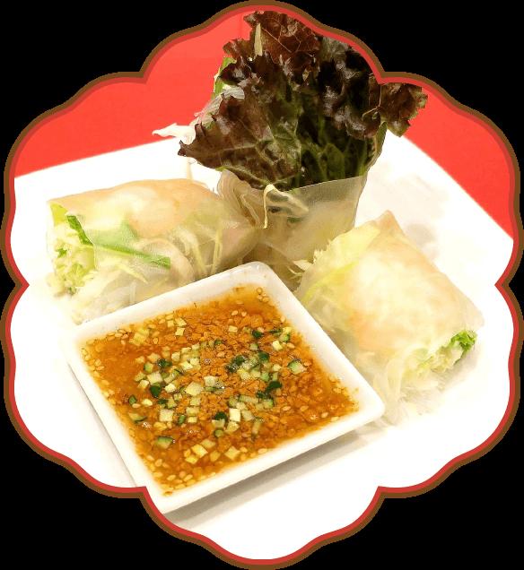 海老と野菜の生春巻き|佐貫・龍ケ崎居酒屋