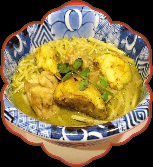 タイ式グリーンカレー拉麺|佐貫・龍ケ崎居酒屋