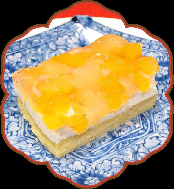 りんごと桃のケーキ|佐貫・龍ケ崎居酒屋